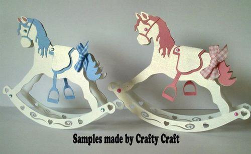 Rocking horse 3D model Template