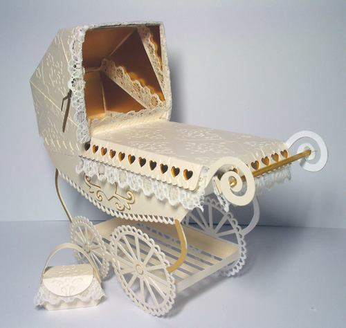 Vintage Pram with choice of covers and parasols and box