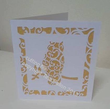 Owl Filigree Card Template