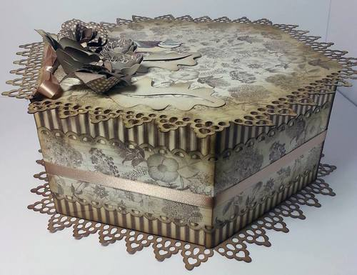 Touch of Romance Hexagon Box  LARGE AND DEEP