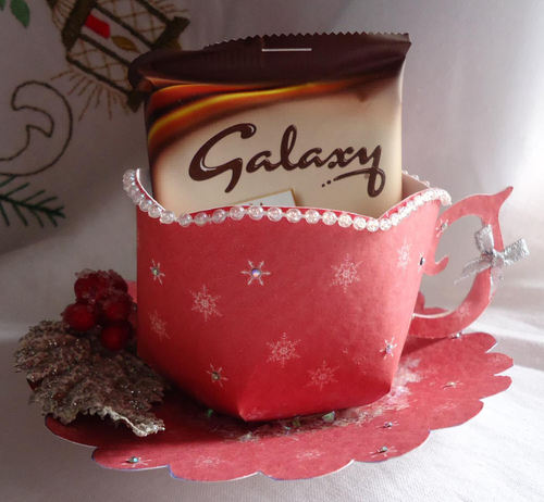Christmas Snowflakes Cup and Saucer Set (red option)  Print n Cut