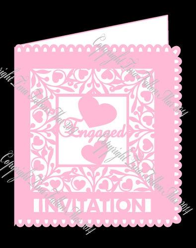 Engaged Invitation card template