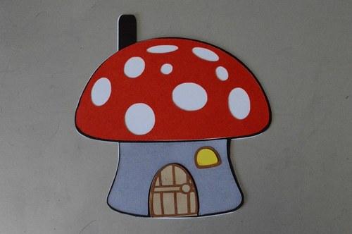 Fairy Mushroom House, Mushroom shaped card template