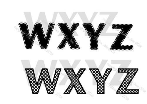 A to Z *FULL SET* Alphas in both Lattice and Scalloped versions