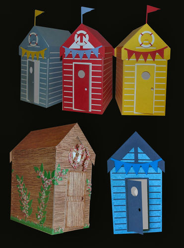 Beach Hut 3d Model inc Display  Box  (sealed except for the door)