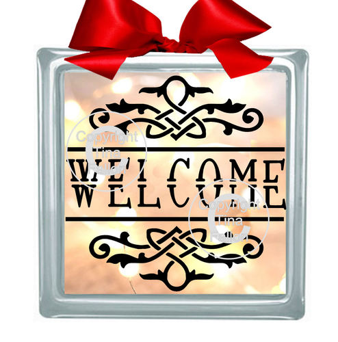 WELCOME  Glass Block Tile Design 6x6 inches  FCM