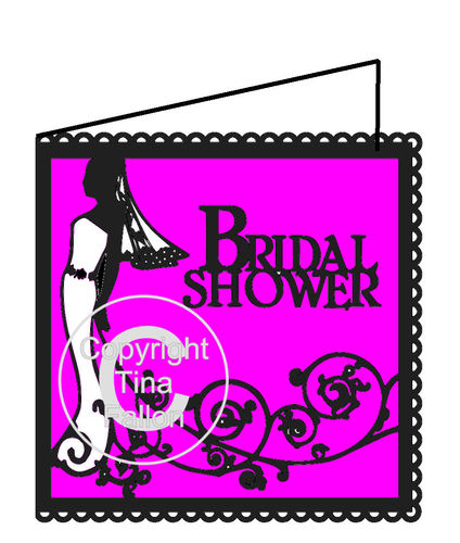 Bridal Shower Card - Bride Swirl please read item before purchase