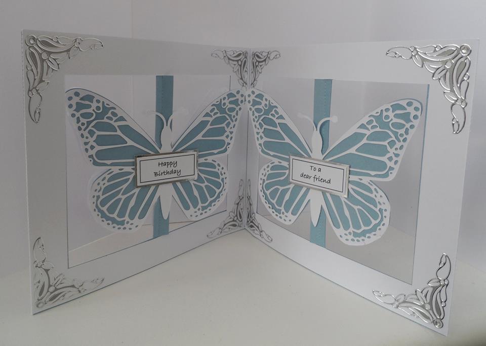 Accordian Card - Butterfly Butterflies -  Scan n Cut FCM format