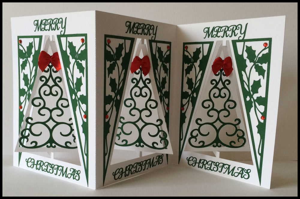 Accordian Card - Christmas Tree -  Scan n Cut format