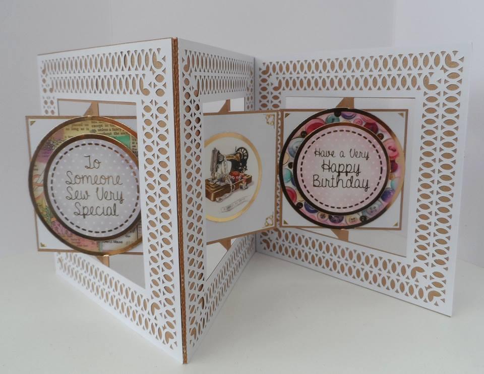 Accordian Square Card -   Scan n Cut format