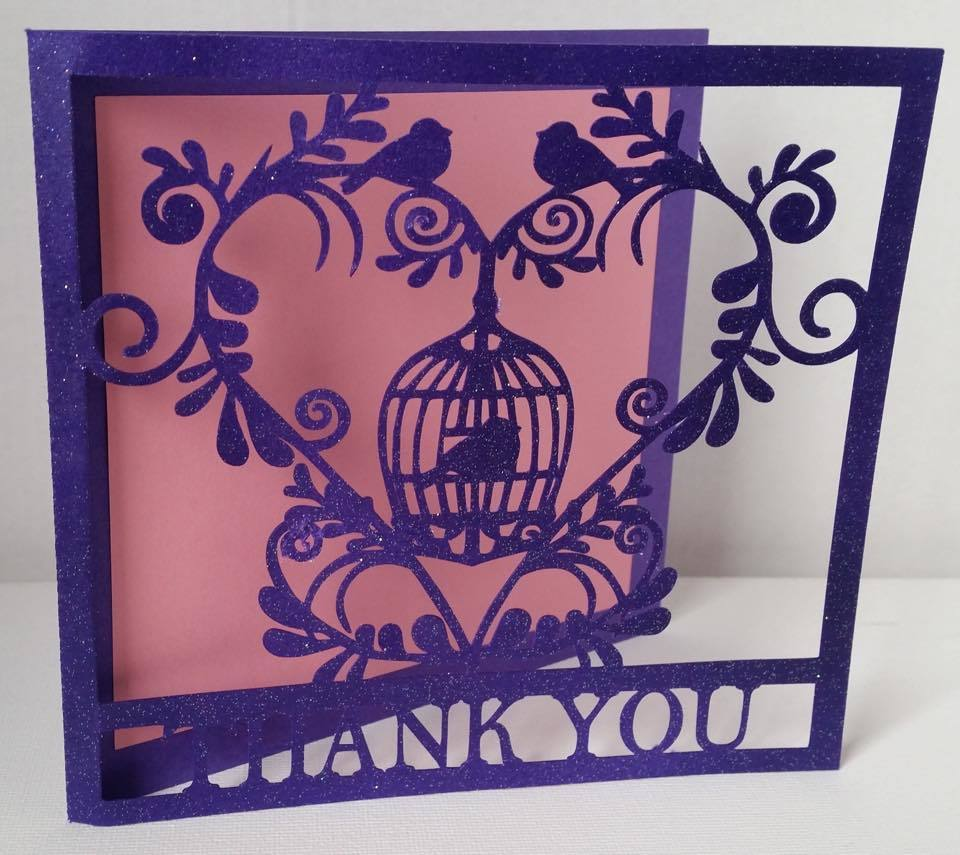 Wedding Set Heart and Bird Cage-  THANK YOU    studio file