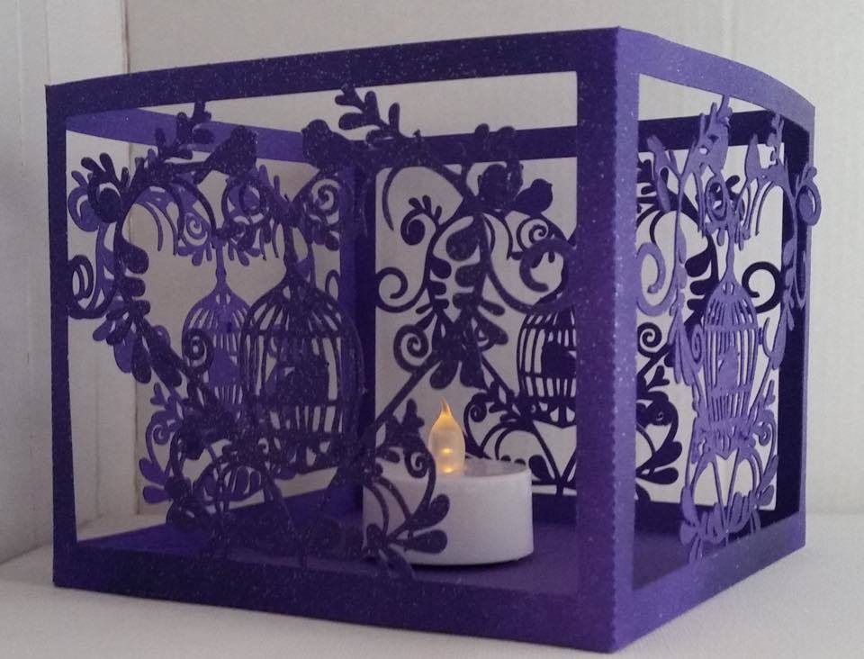Wedding Set Heart and Bird Cage- LED TEALIGHT HOLDER  studio file
