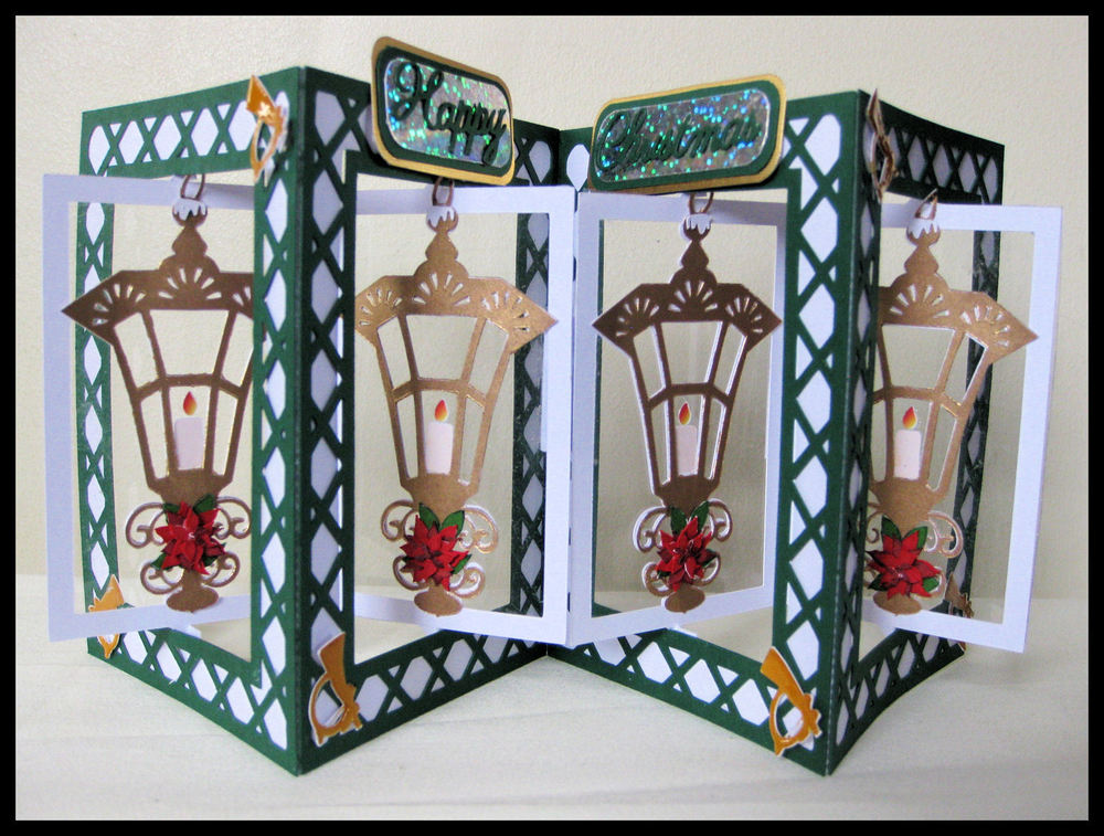 Accordian Card - Christmas Lantern-  FCM Scan and Cut  format