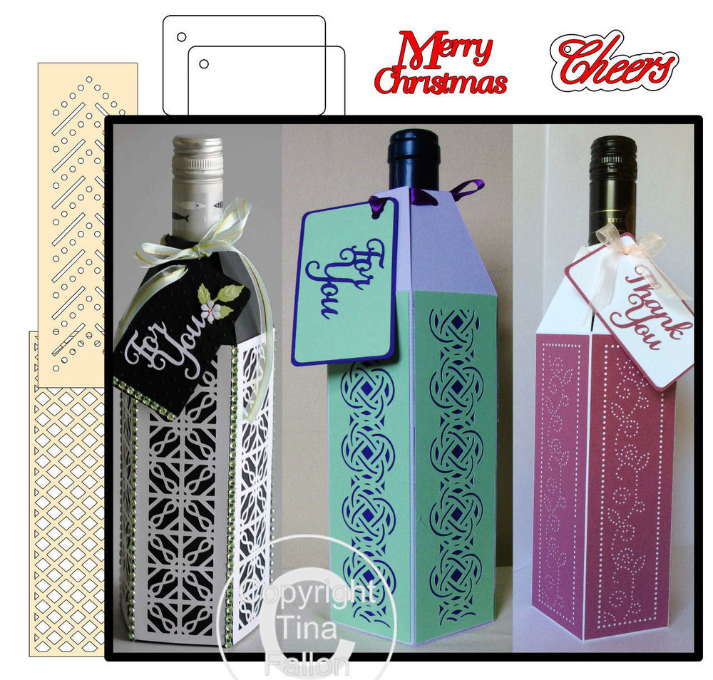 Wine Bottle Box Wraps - *BUMPER PACK *  Set1 -   General occasions Studio format