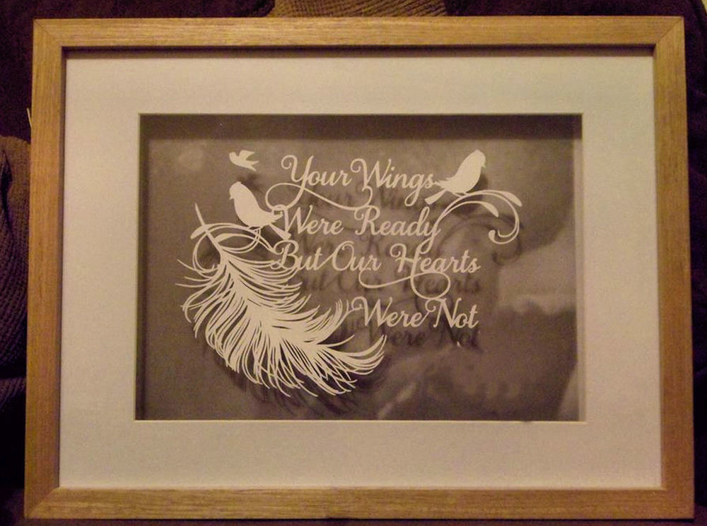 Your Wings Were Ready style 2 - Memory,Baby,Bereavement,  Papercut STUDIO