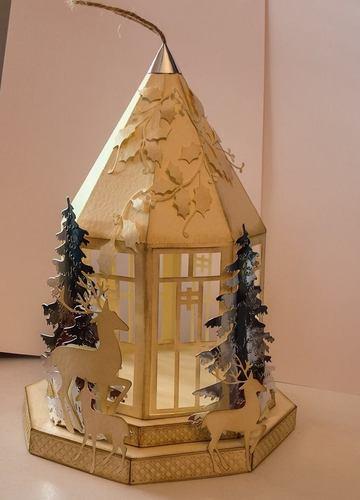 Christmas Lantern on plinths  Design No 1- SVG