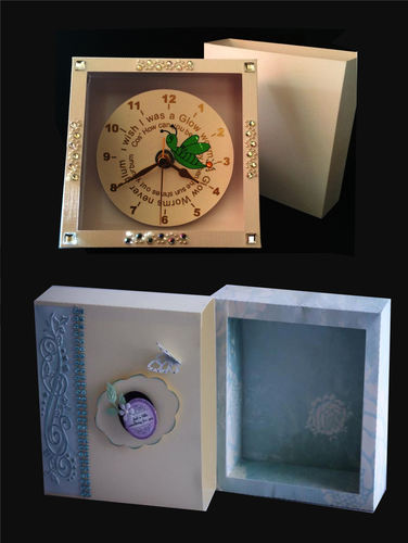 Cd Rom Clock or Gift Box (Inner shadow box with outer sleeve) SVG