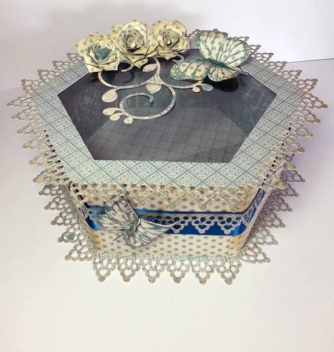 Touch of Romance Hexagon Box with APERTURE LARGE AND DEEP - FCM Scan n cut