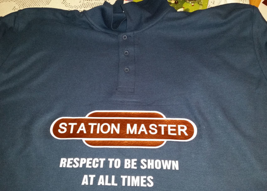 Train Station Master  - vinyl HTV layering