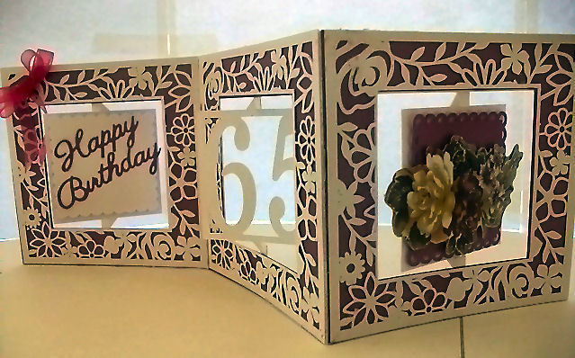 Accordian Card - 65 th  birthday - Anniversary