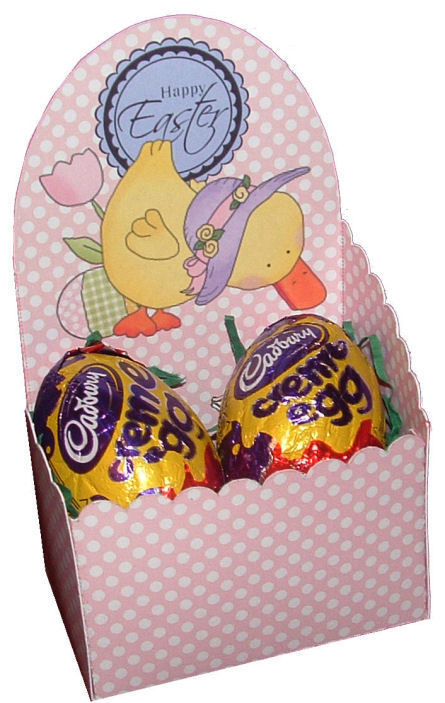 Easter  Chocolate Box A -    print n cut studio cutting file