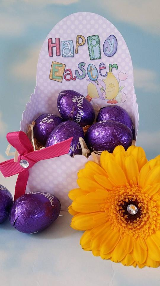 Easter  Chocolate Box m -    print n cut studio cutting file (Lilac Polka Dot)