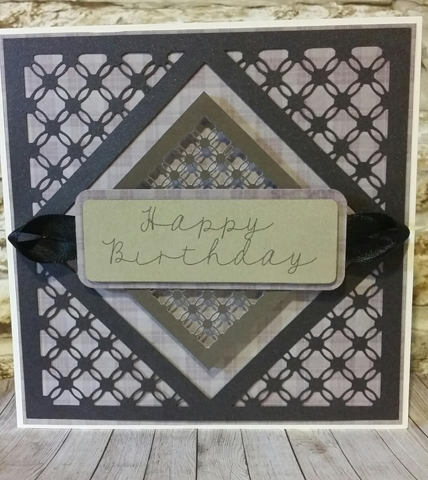 Simply Entwined  Square with corners - Mat/Toppers /Emboss Engrave.