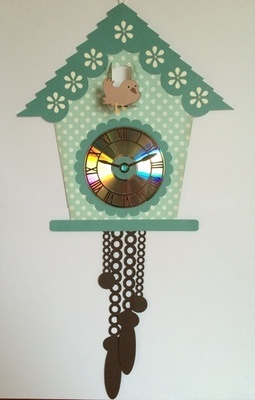 Cuckoo clock and Clock Face svg  - for CD's / 45's / LP's and 78's