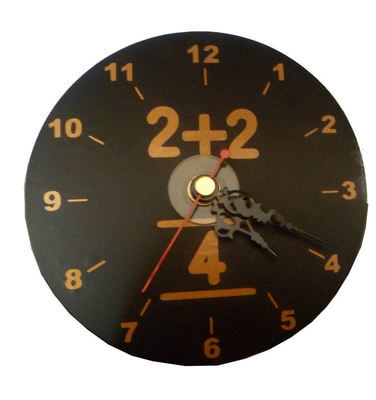 Teacher Mathes Clock Face for CD's / 45's / LP's and 78's