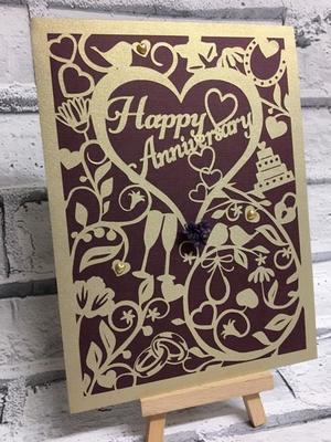 Wedding Anniversary Card  SVG format