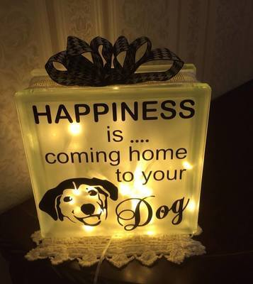 Happiness is coming home to your  Dog design 2 - vinyl HTV etc