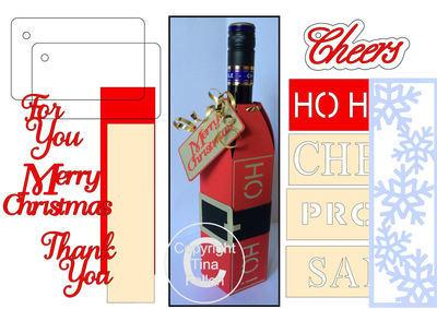 Wine Bottle Box Wraps - *BUMPER PACK *  Set 2 -   Christmas -  Studio format