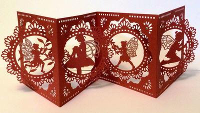 Accordian Card - Fairy Fairies themed - FCM Scan n Cut format