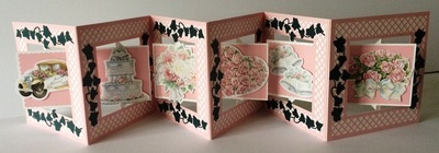 Accordian Card - Square with trellis and Ivy - Scan n Cut