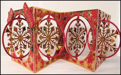 Accordian Card - Christmas Snowflake -  Scan n Cut format