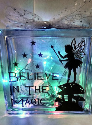 Fairy Believe In The Magic - svg /fcm design for vinyl and glass blocks