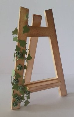 SVG Artists 3d Easel Display Stand great for craft fair displays. COMMERCIAL USE ALLOWED