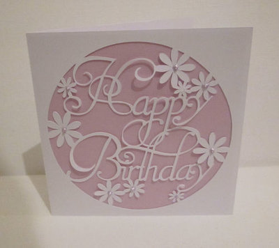 Happy Birthday 3  Card Template SVG FILE FORMAT