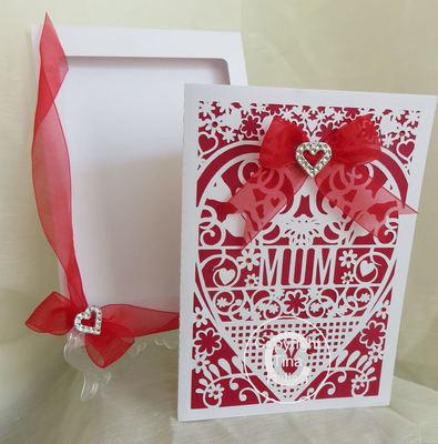MUM  Card (with box)  beautiful cutout design