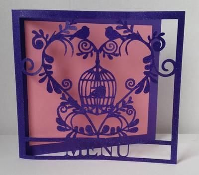 Wedding Set Heart and Bird Cage-  MENU    studio file