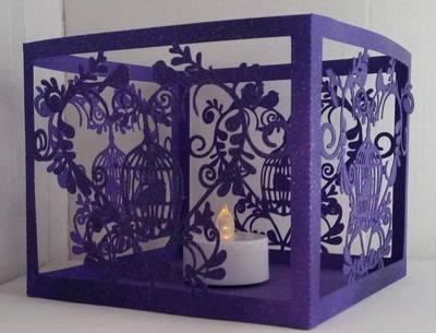 Wedding Set Heart and Bird Cage- LED TEALIGHT HOLDER  studio file