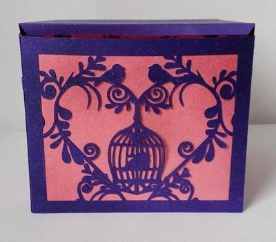 Wedding Set Heart and Bird Cage- GIFT BOX   studio file