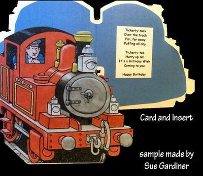 Tobias The Tank Engine, Shaped Card and Insert