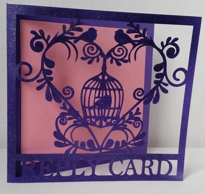 Wedding Set Heart and Bird Cage-  RSVP R.S.V.P REPLAY CARD   studio file