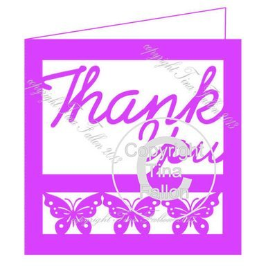 Thank You Card Template No4