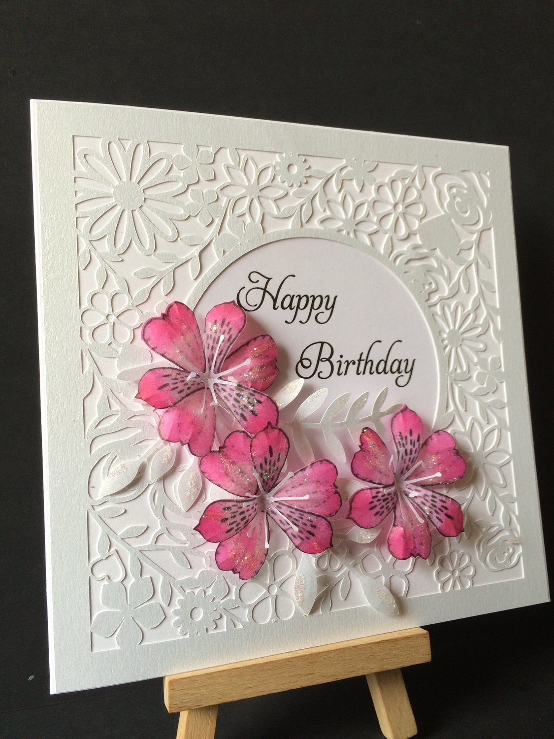 Beautiful floral themed square Card Topper  fcm format.