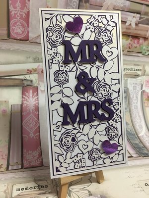 Mr & Mrs Mix N Match set 1 Card template and 2 Toppers.