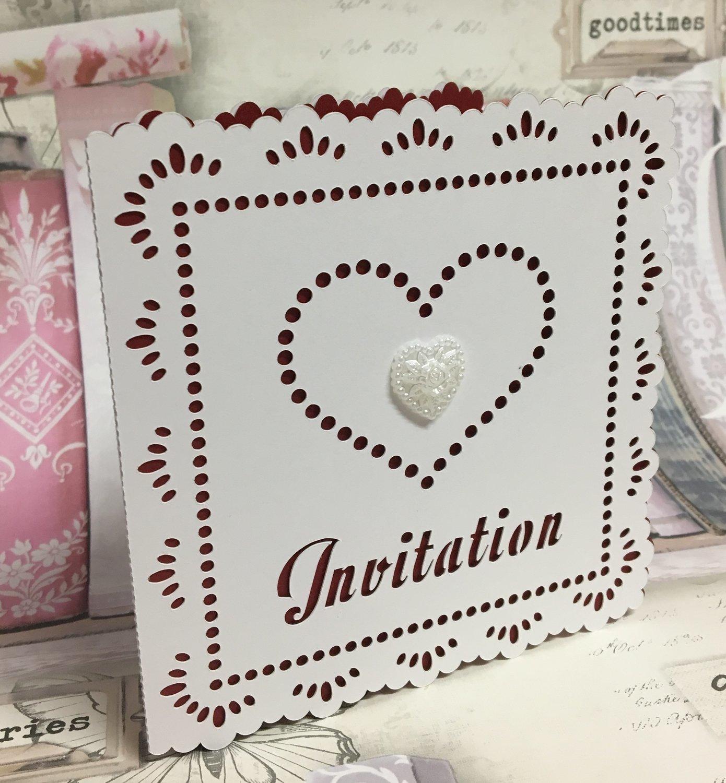 Wedding Hearts Invitation