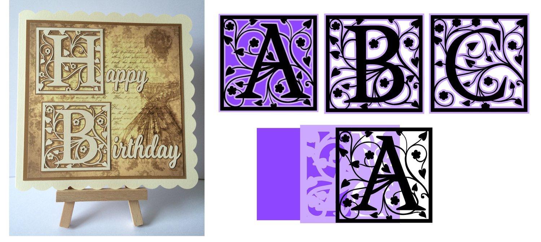 Full set of framed A - Z Alphabet Alphas Set 2