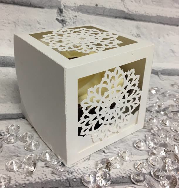 Cupcake Snowflake Box - all in one box Christmas Weddings